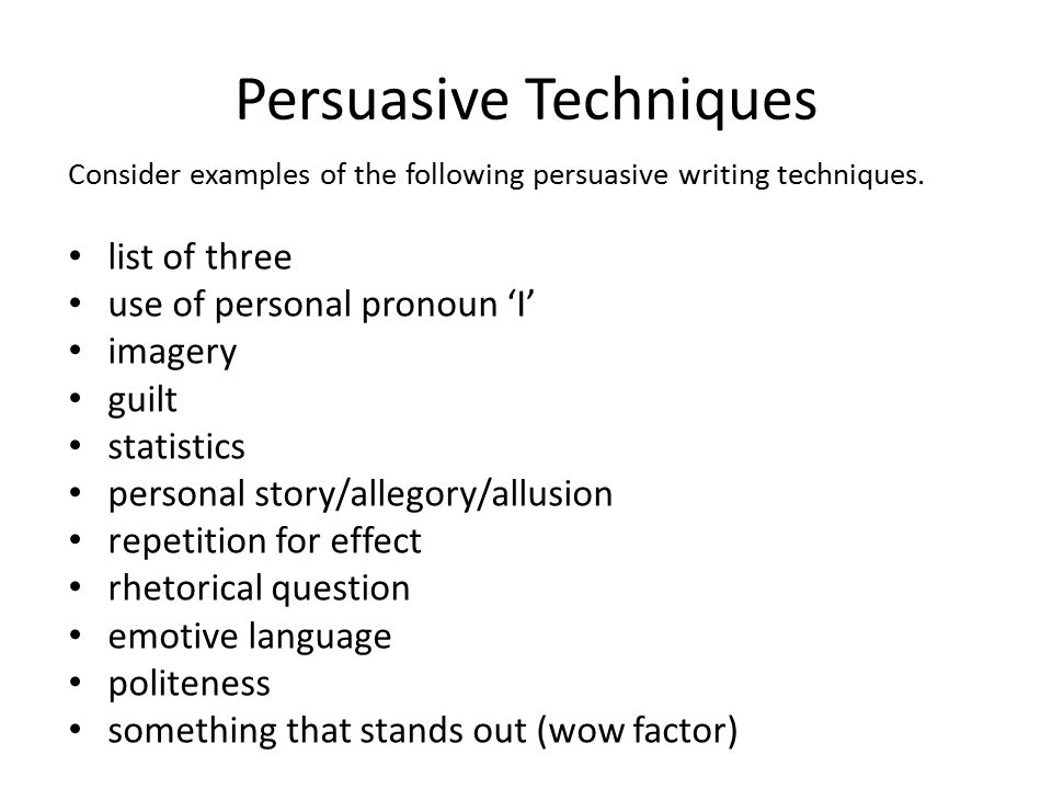 persuasive strategies list