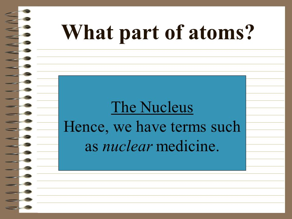Where does radiation come from Atoms... from radioactive or unstable atoms