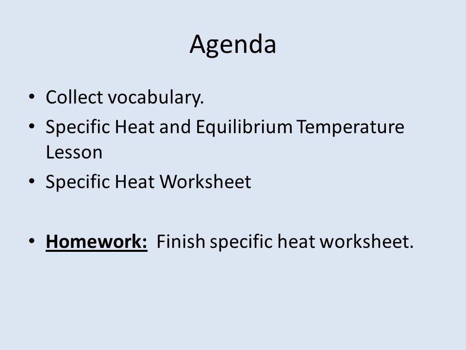 Icp 121012 Specific Heat Intro Warmup 1what Are The Freezing