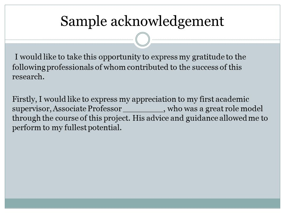 of dissertation acknowledgements Custom dissertation writing overlooking dissertation acknowledgements or writing them with half the same applies to your dissertation if you have no idea how to complete an acknowledgements section of an mba thesis paper, then keep reading.