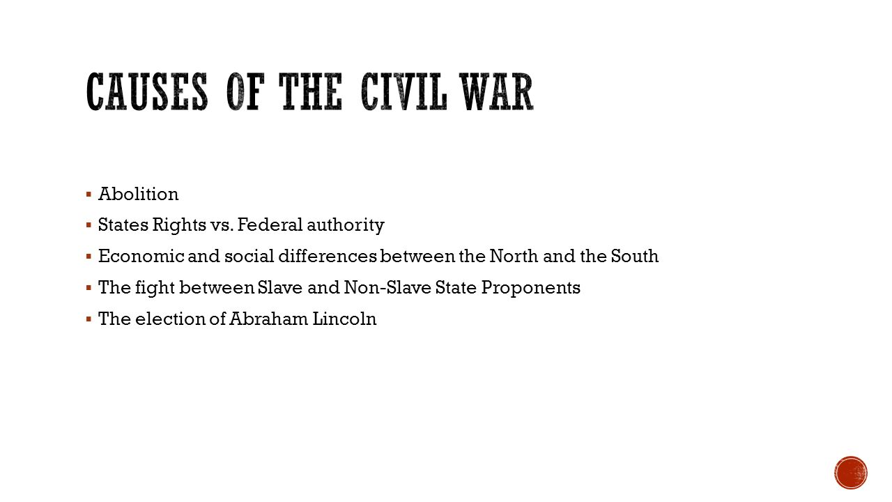 Abolition  States Rights vs.