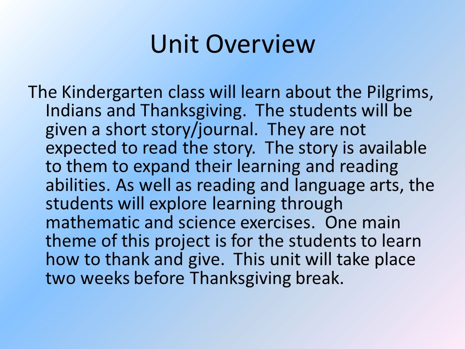 Pilgrims and Native Americans By: Paula Decker. Unit Overview The ...