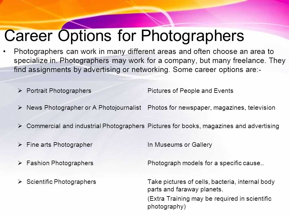 Photography Career In Essential Info Photographers Take
