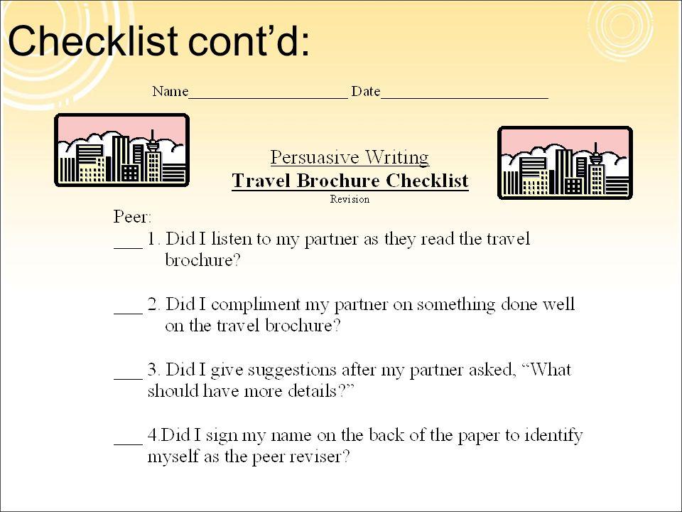 persuasive writing travel brochure