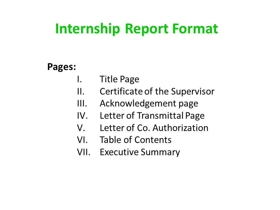 Internship report format pages ititle page iicertificate of the 1 internship report format spiritdancerdesigns Image collections