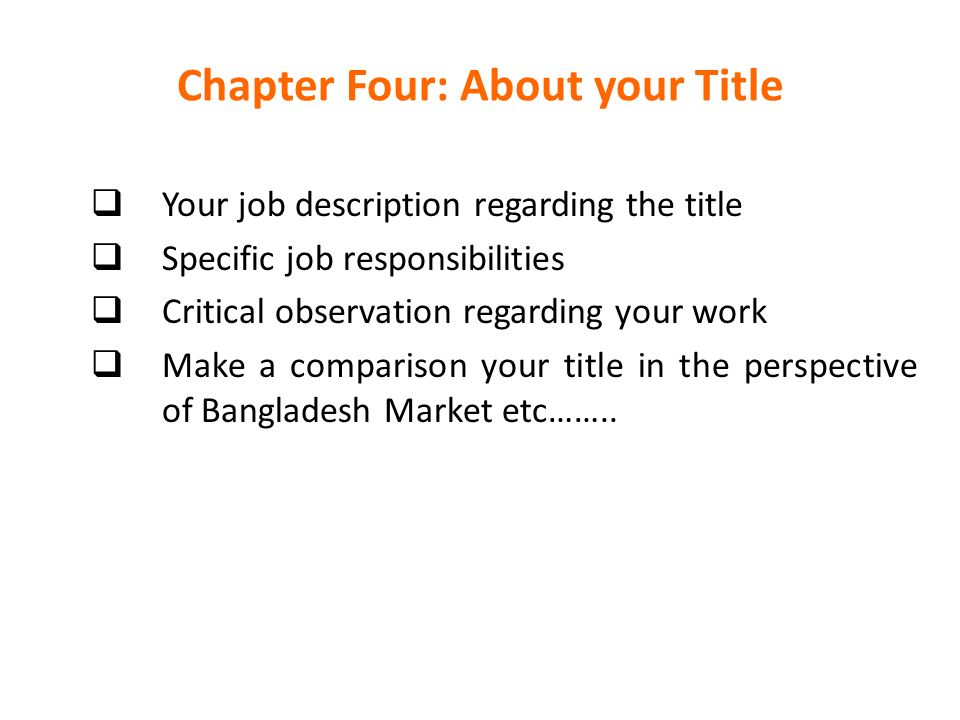 Internship Report Format Pages: I Title Page II Certificate