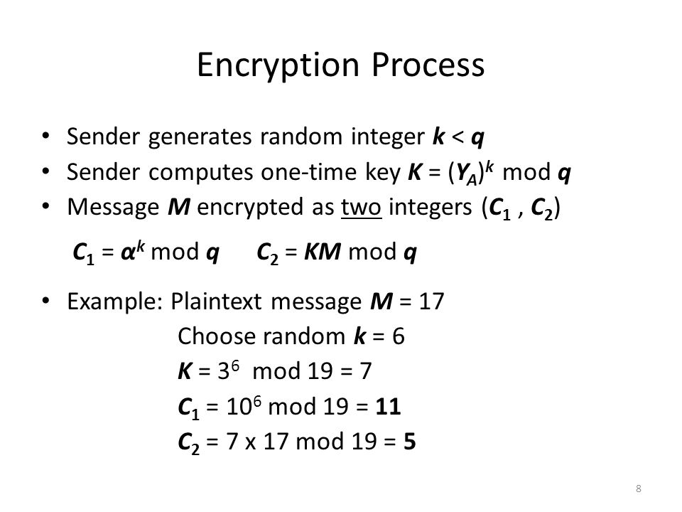 Elgamal Public Key Encryption CSCI 5857: Encoding and Encryption