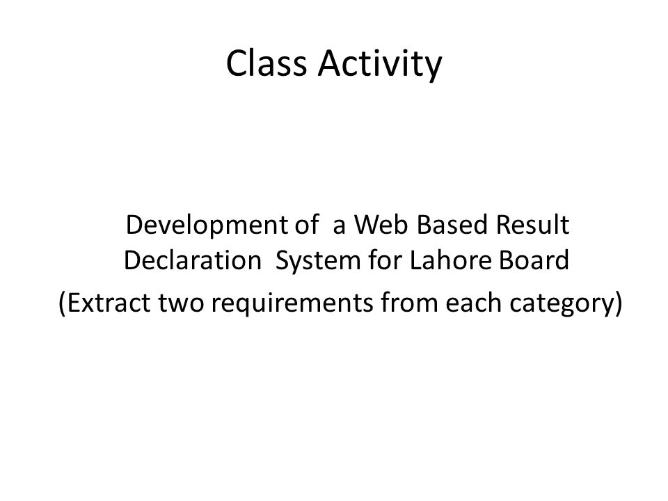 Software Requirement Engineering SE Resource Person: Ikram