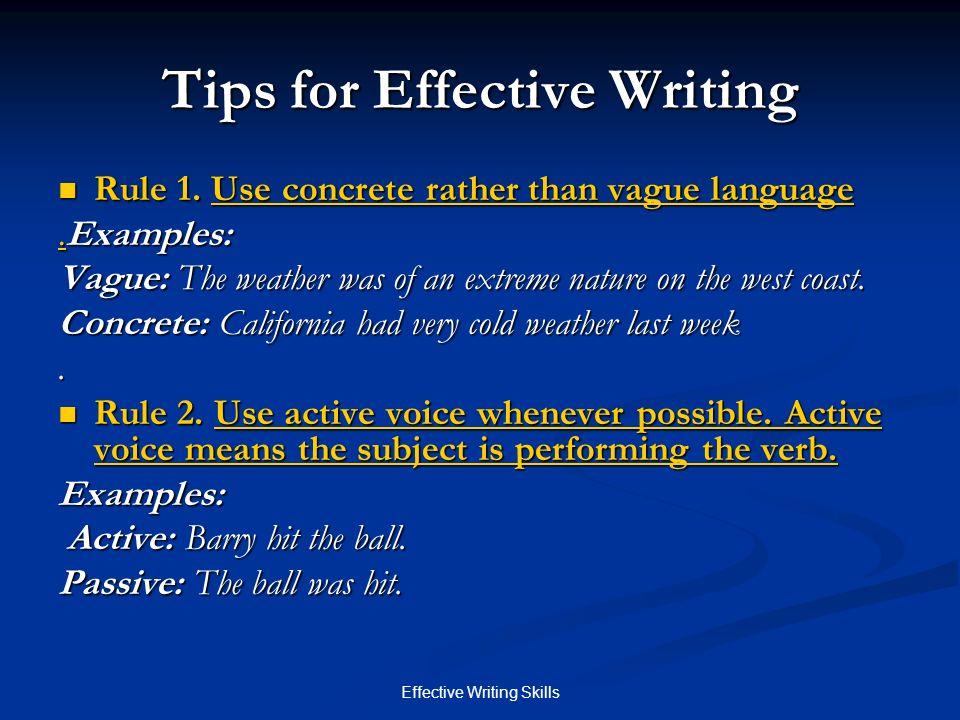 e ffective w riting s kills cis cis effective writing skills goals