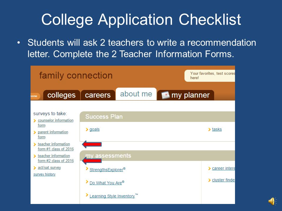 In House College Application Process Howard High School Mrs