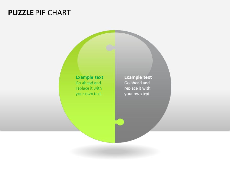 Puzzle Pie Chart Example Text Go Ahead And Replace It With Your Own