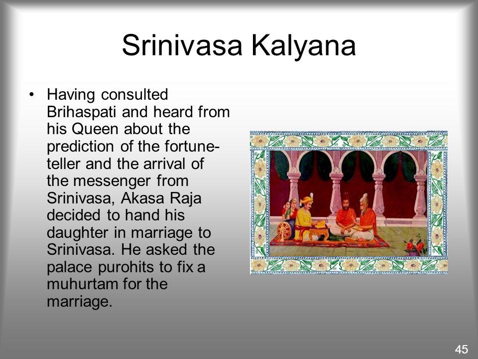Srinivasa Kalyana The fascinating story behind the marriage