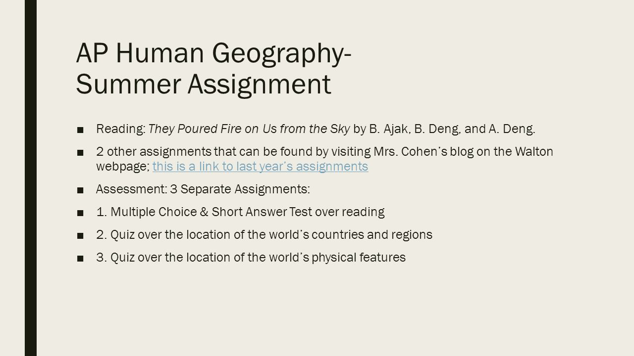 Workbooks ap human geography workbook : Essay Contest - The Arnold P. Gold Foundation geography assignment ...