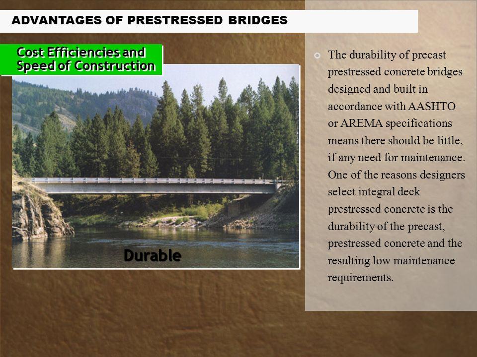 Advantages of Prestressed Concrete Bridges  Owners and designers