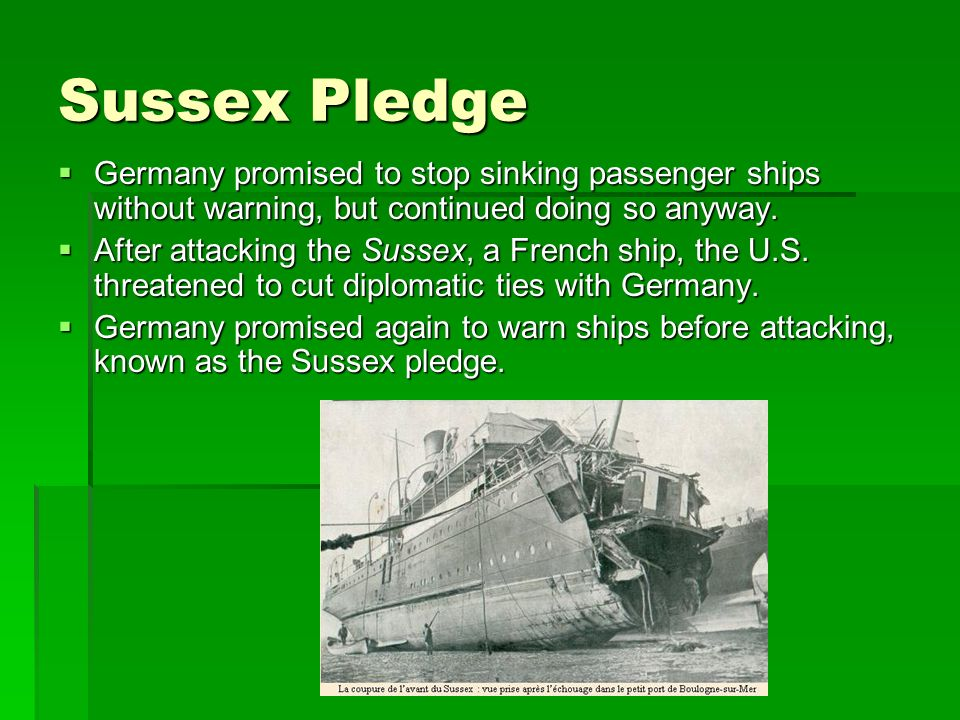 In the sussex pledge germany promised images 174