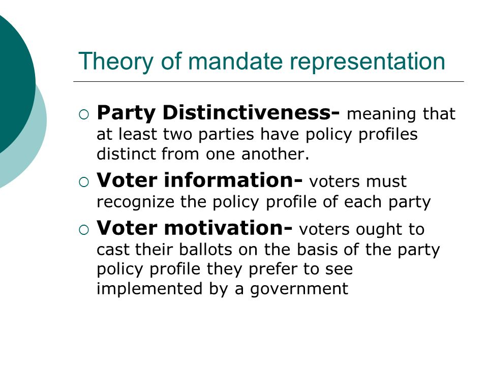 mandate theory of representation