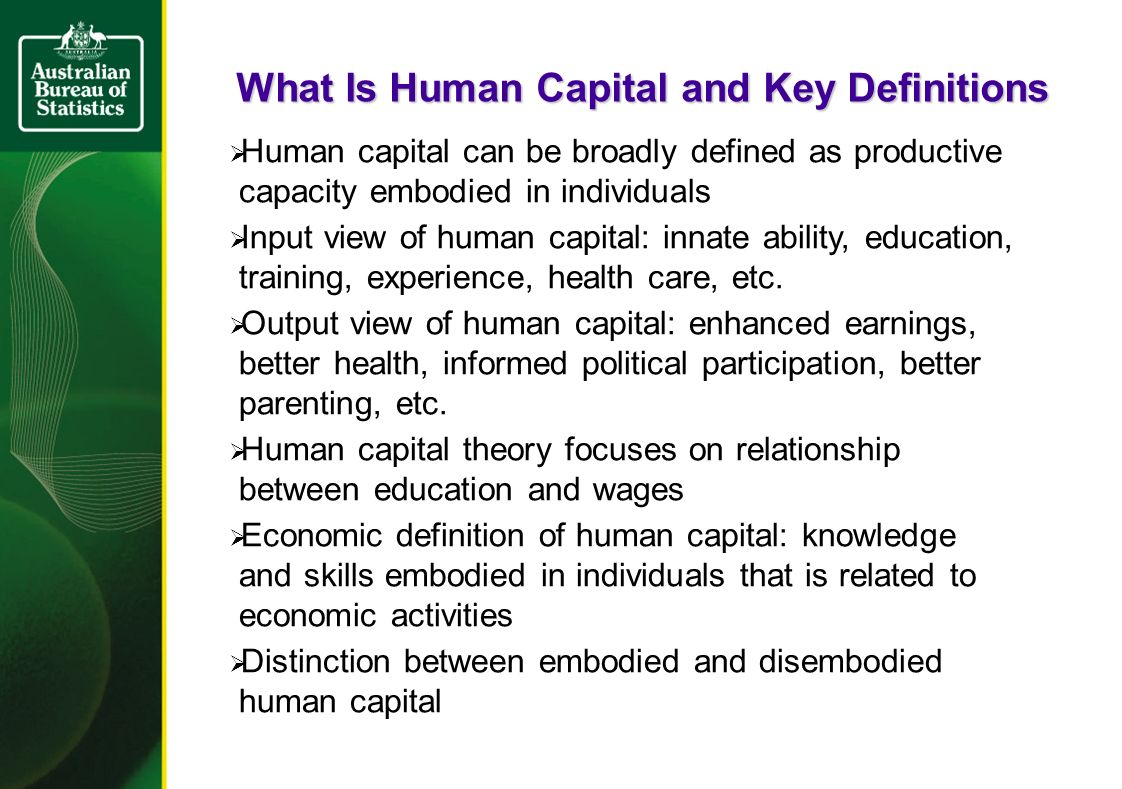 What is human capital 82