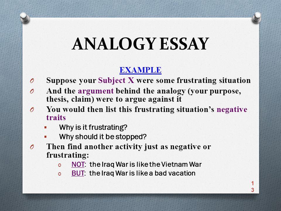 Analogy sample essay esl dissertation chapter ghostwriter for hire online