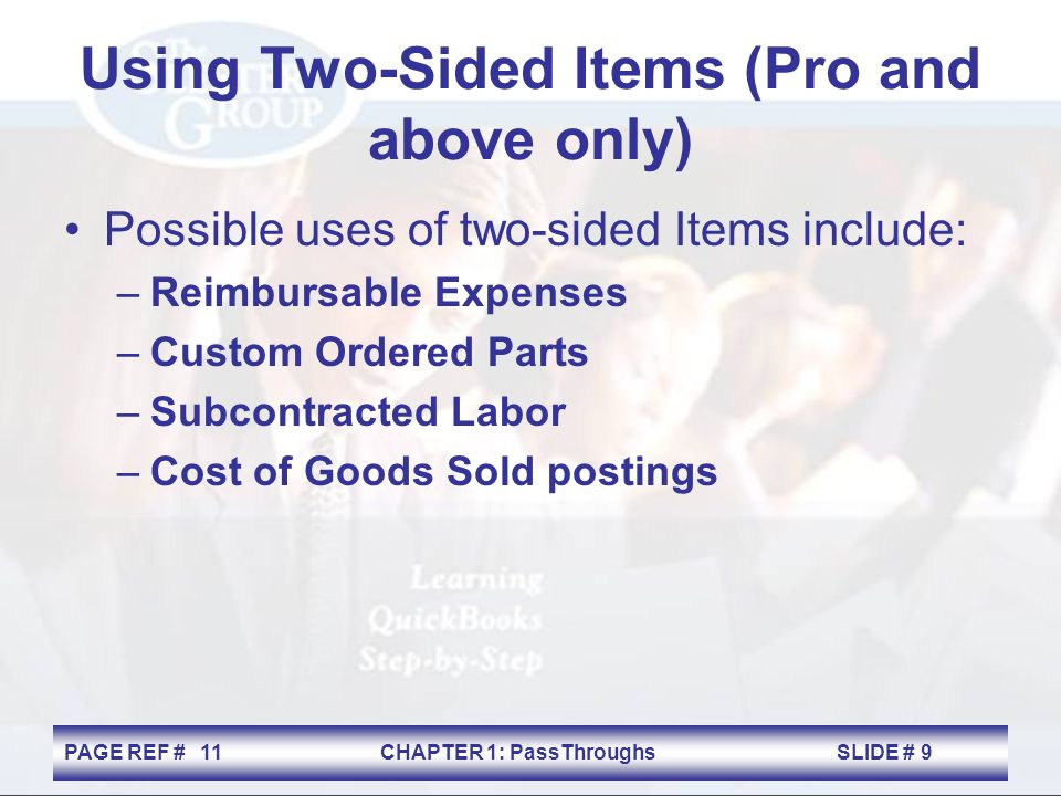 Pass-Throughs Chapter 1  PAGE REF #CHAPTER 1: PassThroughs
