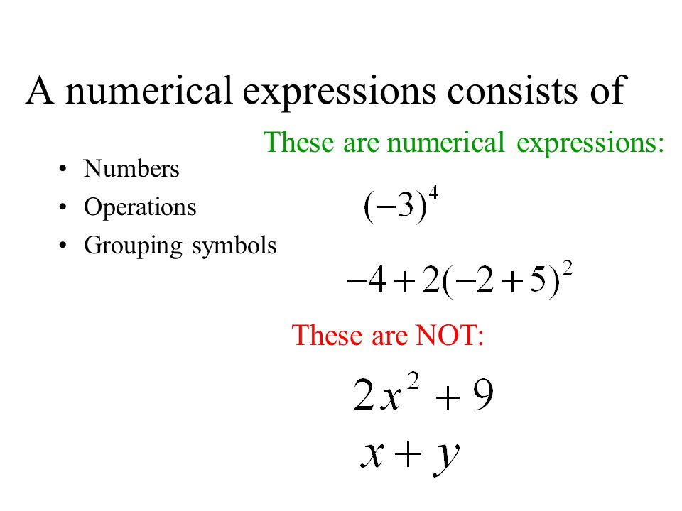 12 Algebraic Expressions And Models In This Lesson You Will