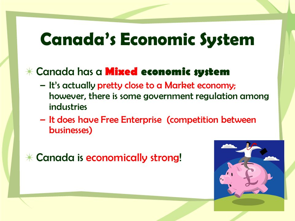 is canada a free market economy