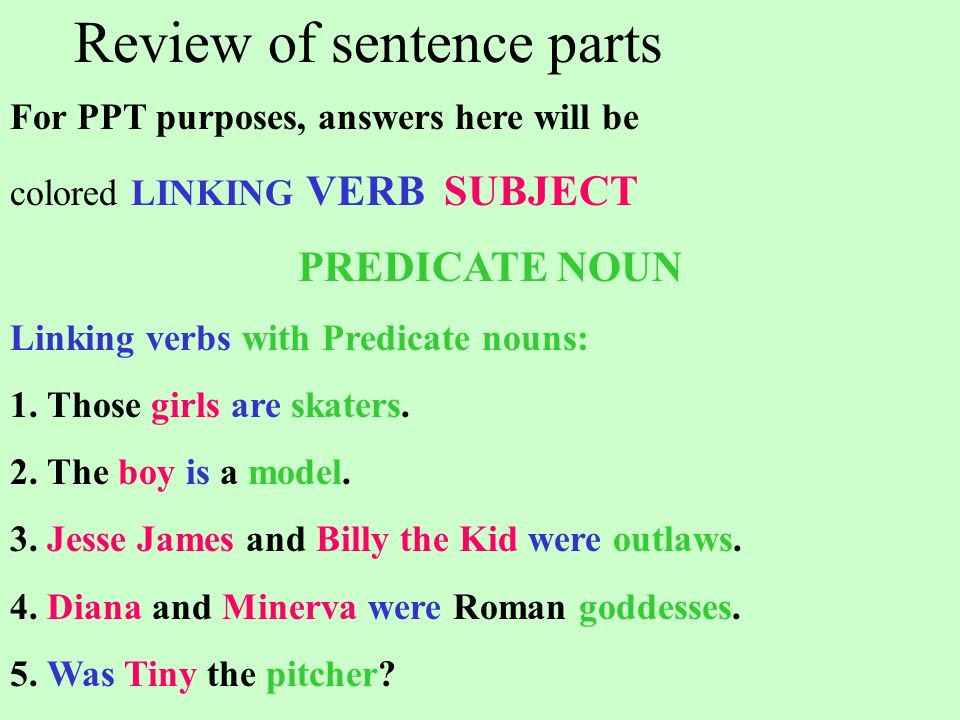 Review of sentence parts Step #1  - ppt download