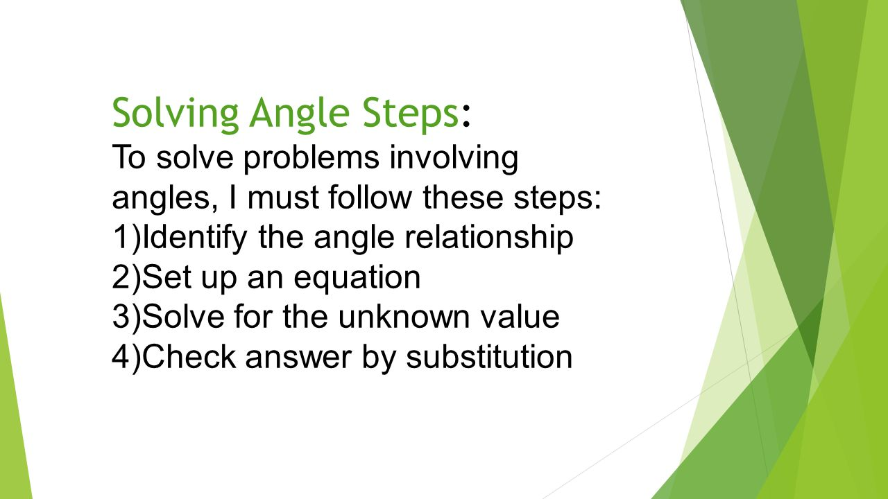 solving angle problems