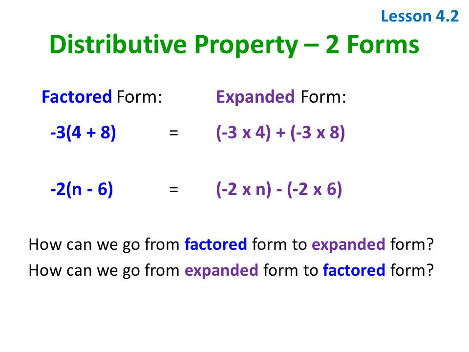 expanded form vs factored form  Quick Start Expectations 11.Pick up and Fill in planner and ...