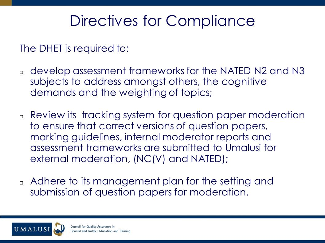 portfolio committee on higher education report on the quality rh slideplayer com