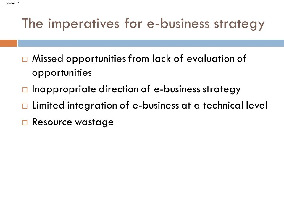 slide 5 1 chapter 5 e business strategy slide 5 2 learning outcomes