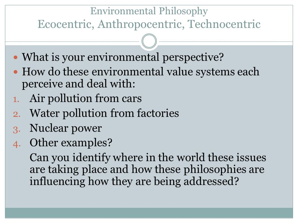 anthropocentric examples
