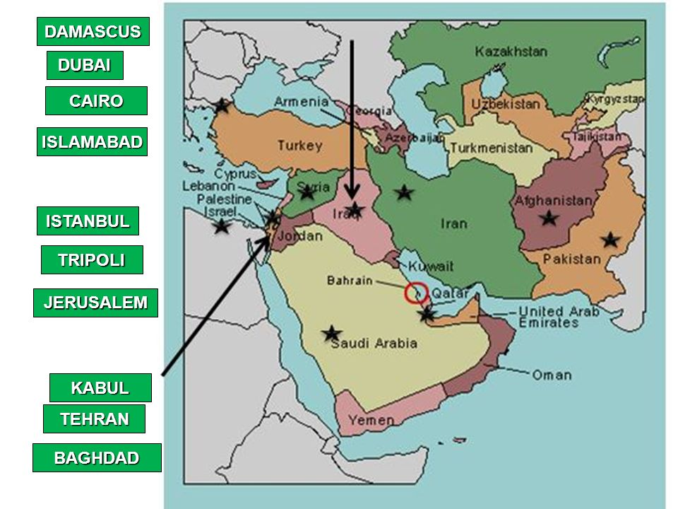 MECCA JERUSALEM DAMASCUS ISLAMABAD TRIPOLI CAIRO BAGHDAD ... on tyre map, beirut on a map, sanaa map, persia map, jordan map, constantinople map, aleppo map, euphrates river map, medina map, syria map, canaan map, mecca map, ankara map, sinai peninsula map, iraq map, muscat map, amman map, jerusalem map, libya map, belgrade map,
