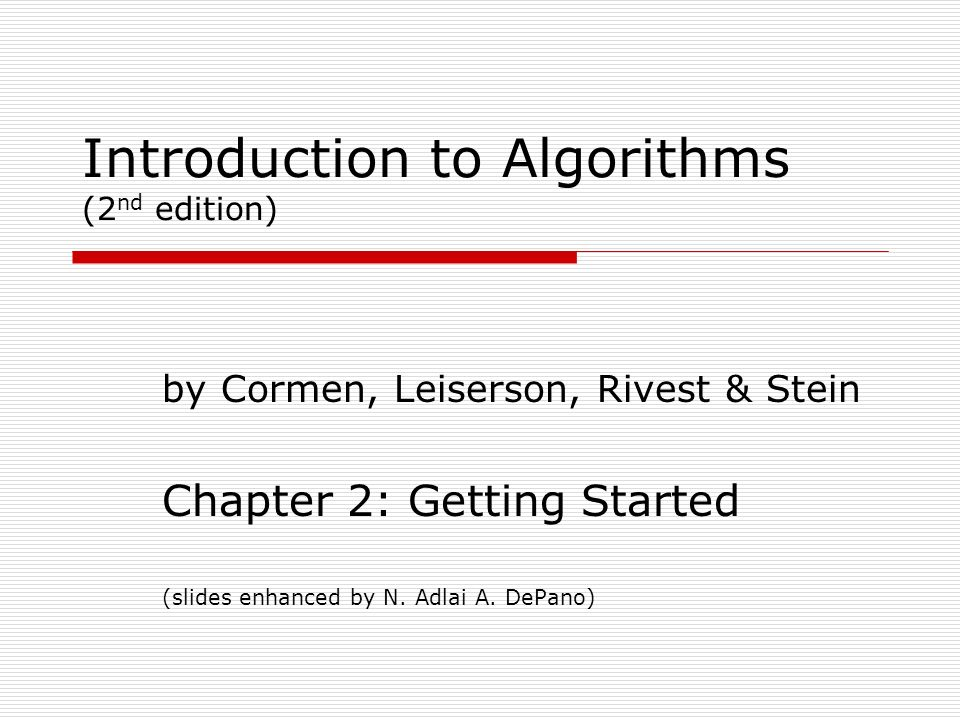 CORMEN 2ND EDITION DOWNLOAD