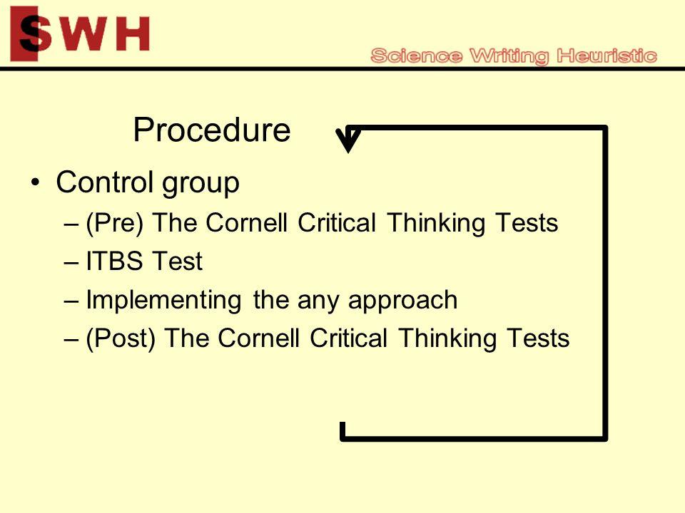 cornell critical thinking test