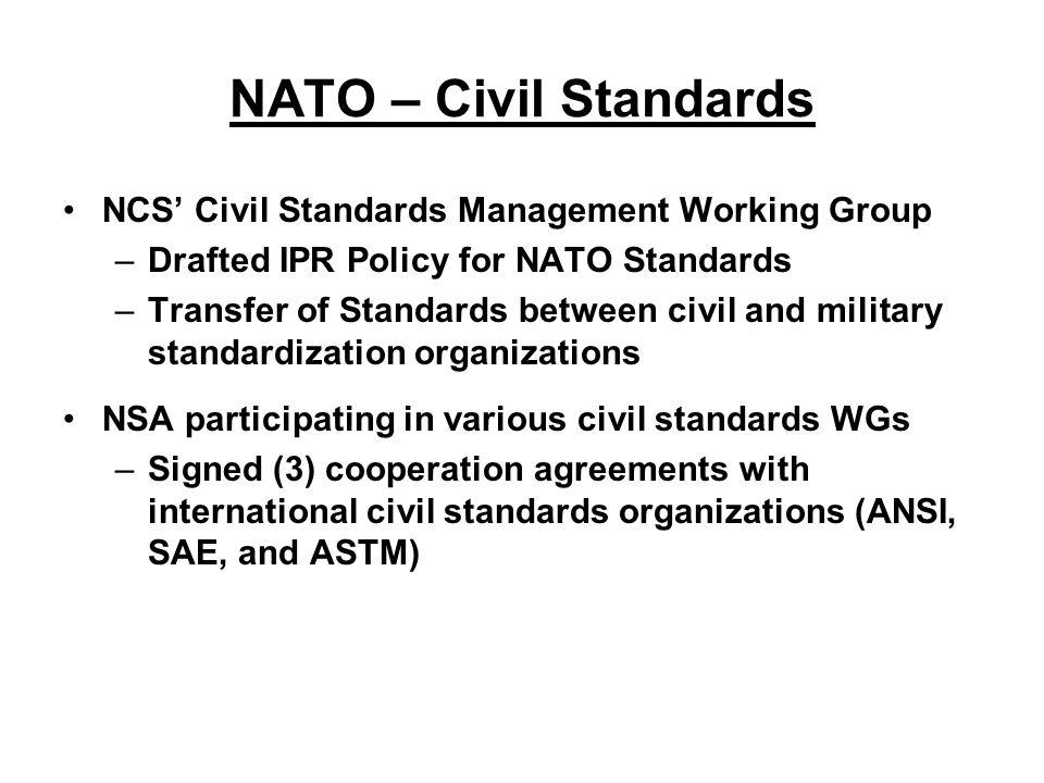 Changes In The Nato Standardization Scene Dod Standardization