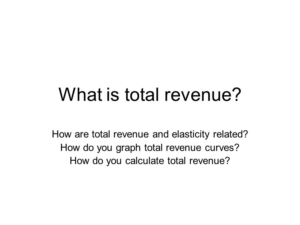how to find total revenue on a graph