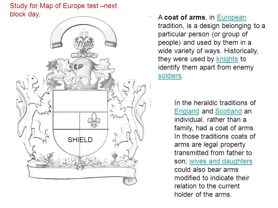 coats of arms middle ages ppt download