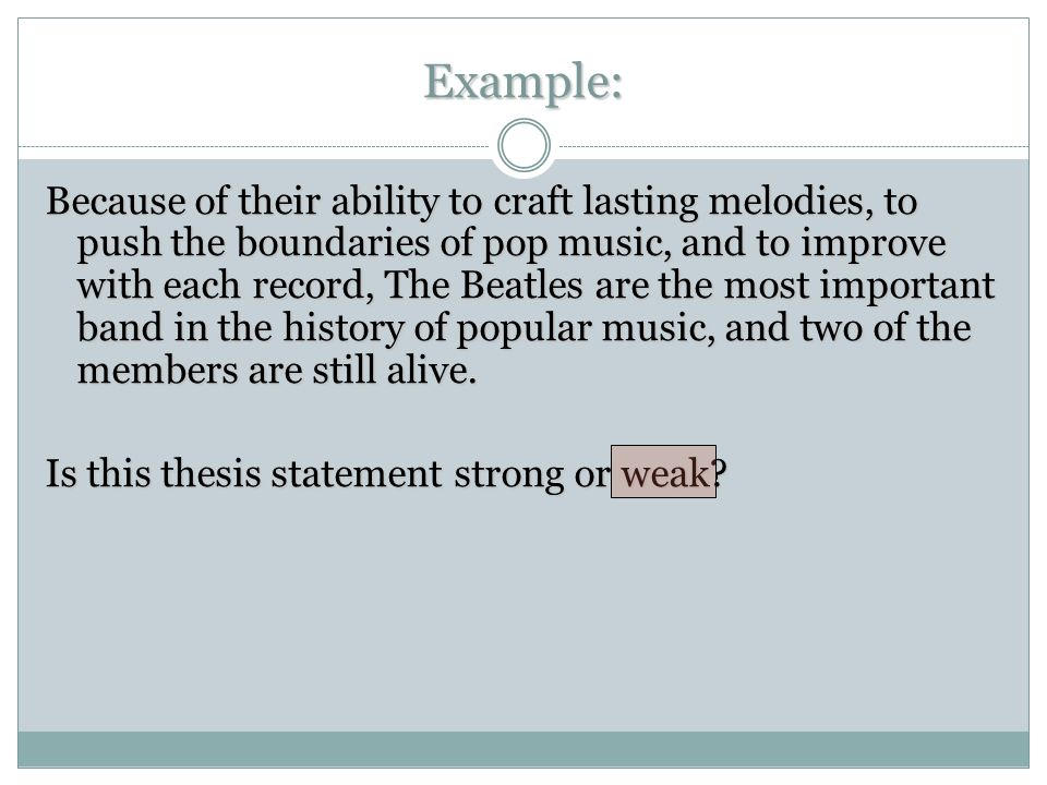 What You Need To Know A Powerpoint By Mr Cost The Thesis Statement