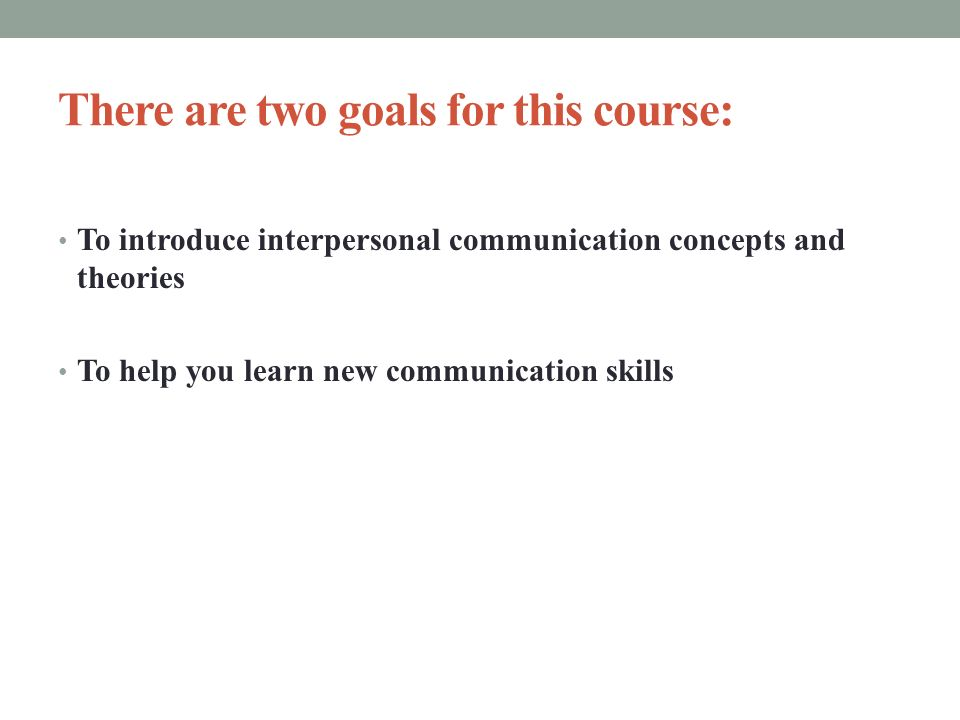 interpersonal communication definition