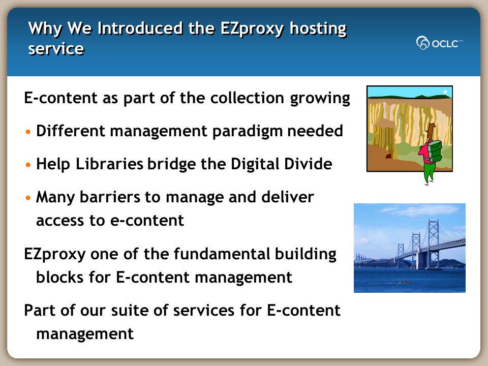 Oclc Ezproxy Support