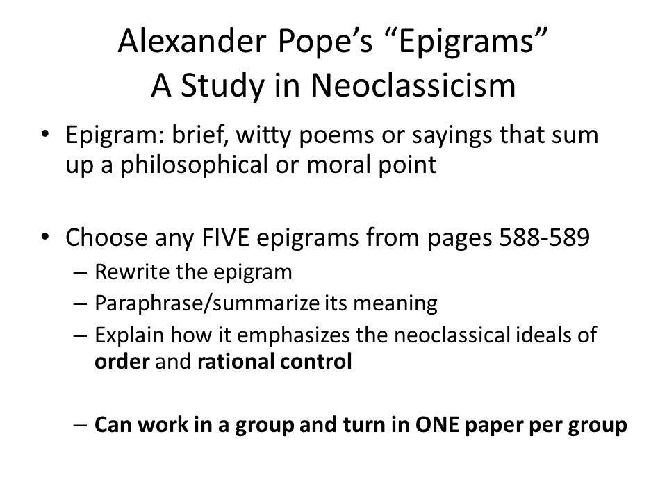 neoclassical ideals
