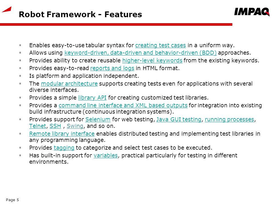 Robot Framework – Basic Level  Date: Version:1 0 Page ppt
