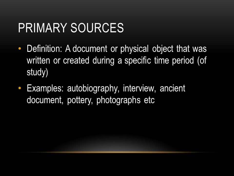 secondary source history definition
