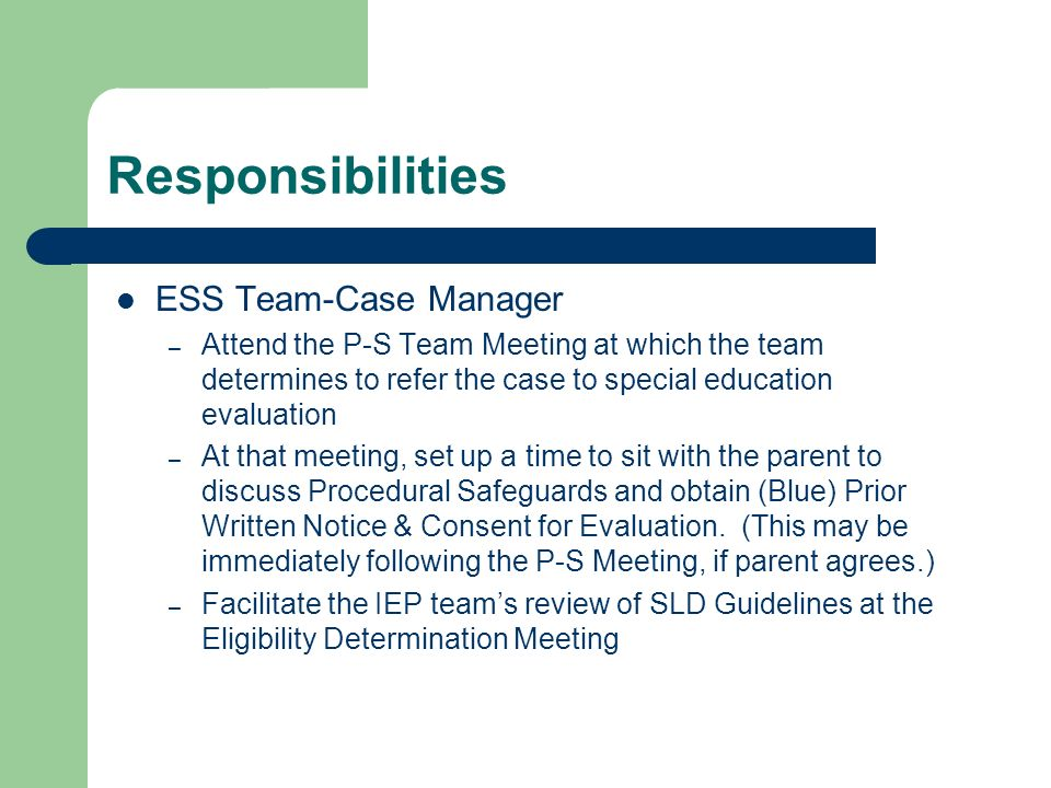 Notice Of Special Education Procedural Safeguards For Ospi >> Sld Guidelines Thompson School District S Guide For Determining Sld