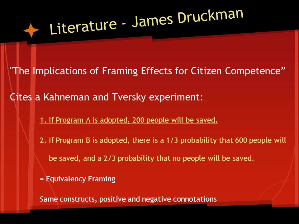 Framing a Question How Framing Changes the Meaning of a Construct ...
