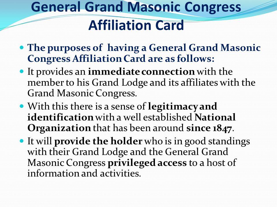 General Grand Masonic Congress - ppt download