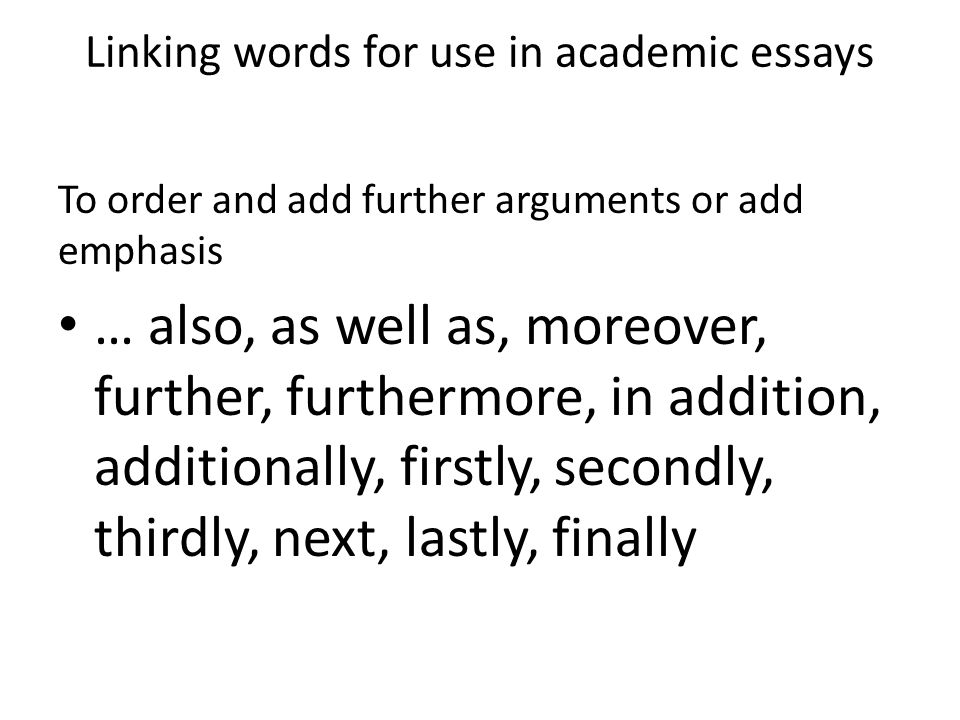 linking words addition