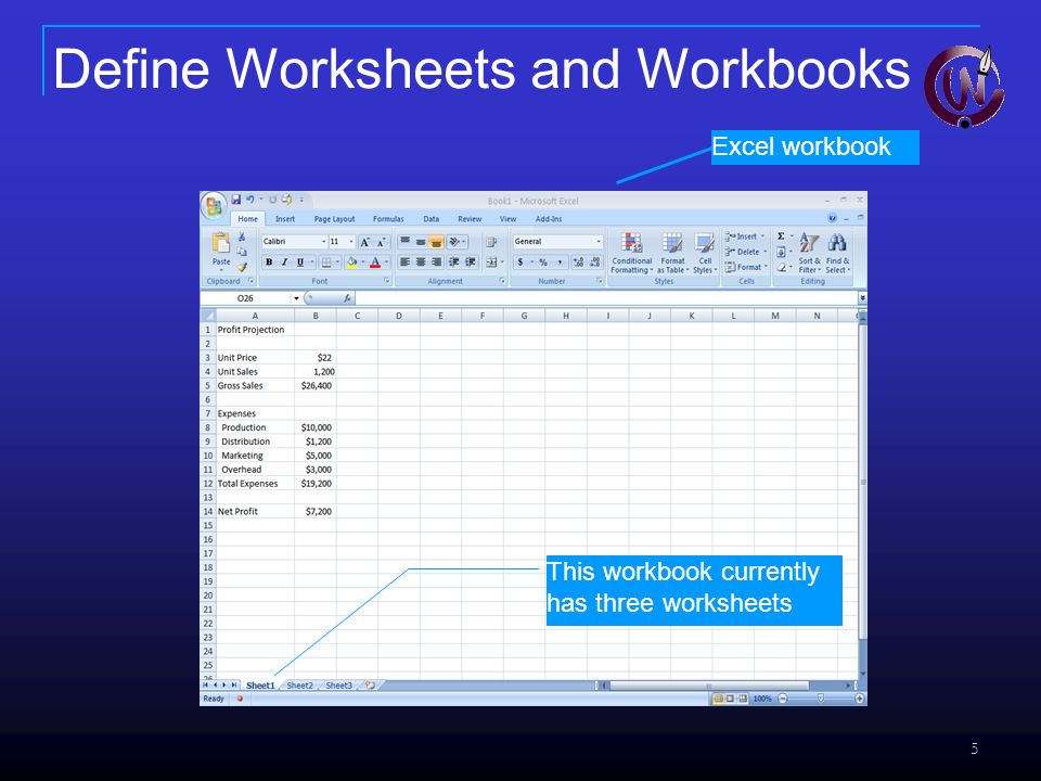 1 Chapter Introduction To Excel What Can I Do With A. 5 Excel Workbook This Currently Has Three Worksheets Define And Workbooks. Worksheet. What Is Worksheet In Excel Definition At Clickcart.co