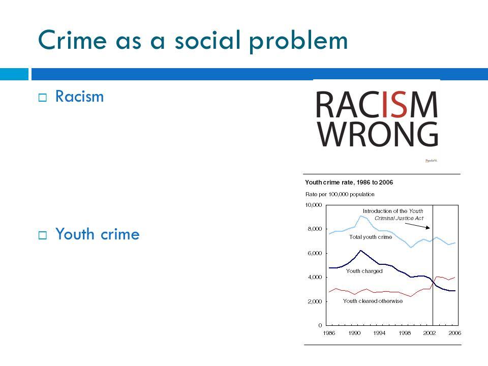 discuss crime as a social problem