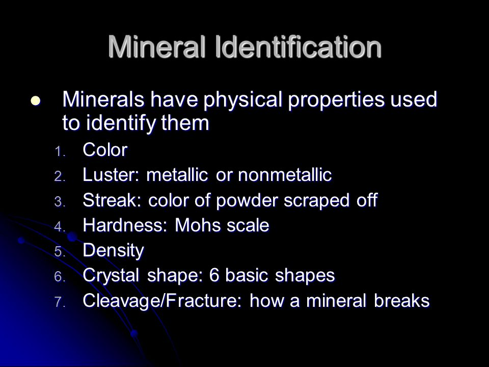 Minerals  What are minerals? 5 characteristics of a mineral 1